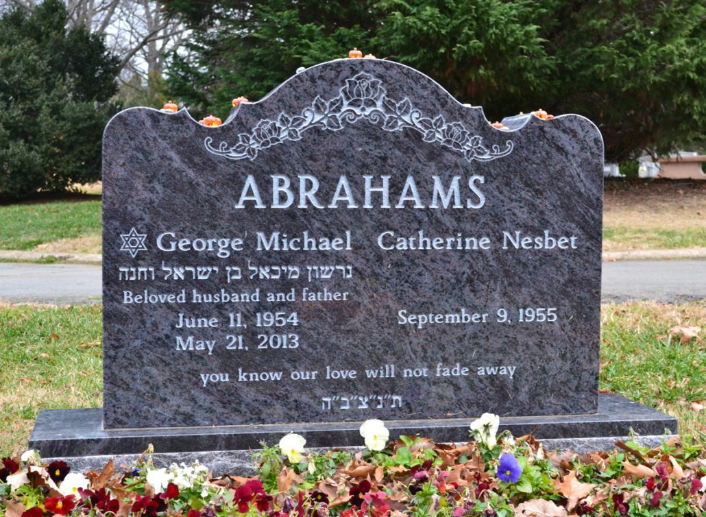 Multilingual Granite Companion Headstone Arlington, VA