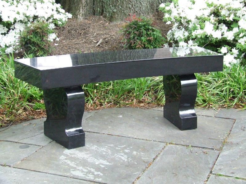 Polished Black Granite Memorial Bench Herndon, VA