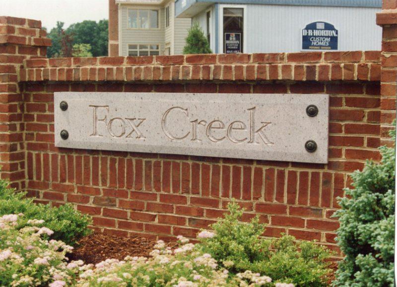 Fox Creek Sign by Kline Memorials