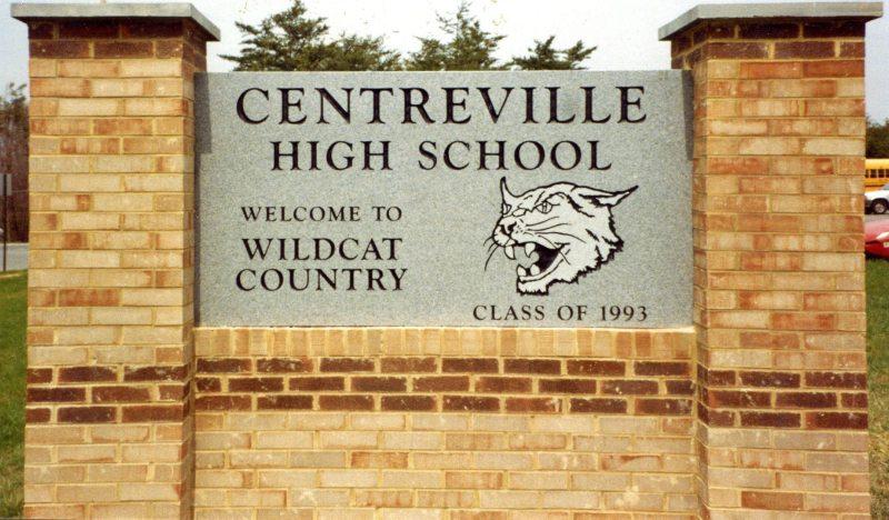 Centreville High School Sign by Kline Memorials