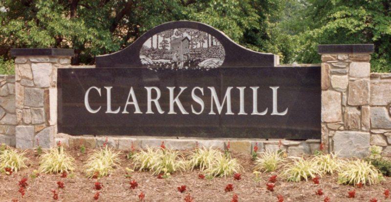Clarksmill Sign by Kline Memorials