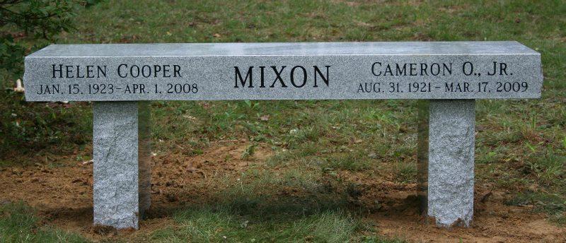 Gray Granite Memorial Bench Dumfries, VA