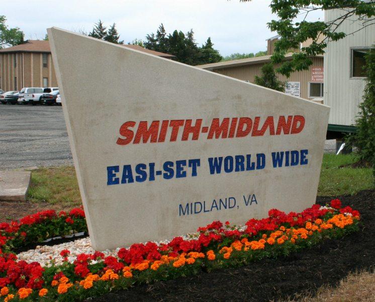 Smith-Midland Corporation Sign by Kline Memorials