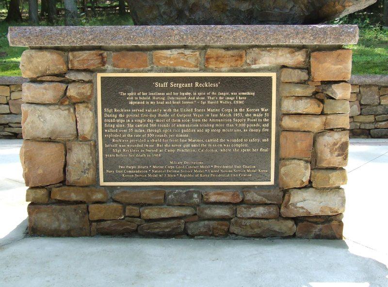 Bronze Plaque Veterans Memorial Quantico, VA