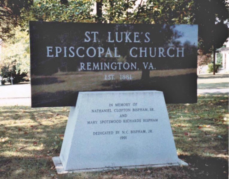 ST. Luke's Episcopal Church Sign by Kline Memorials