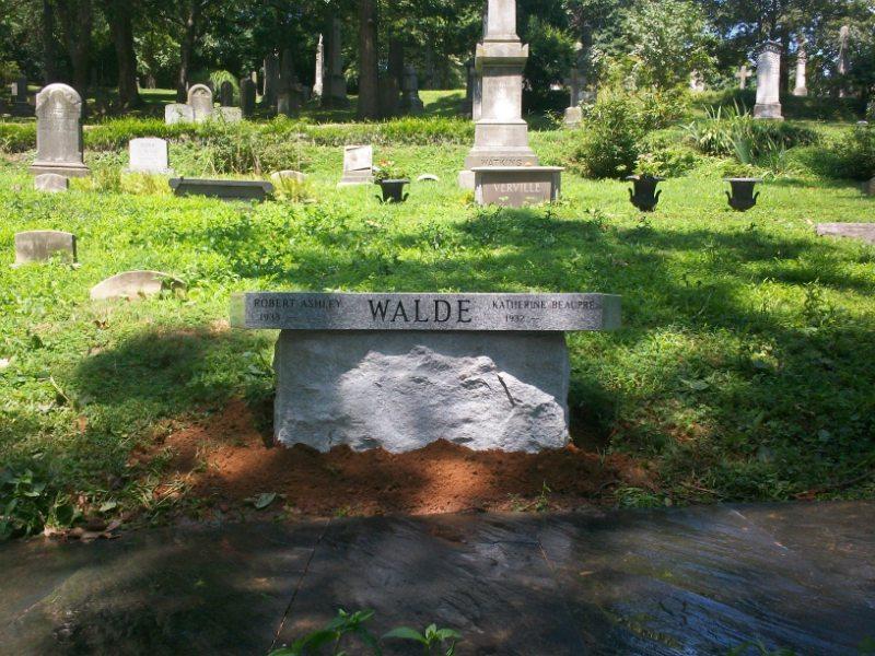 Memorial Granite Bench at The Oak Hill Cemetery in Washington, DC