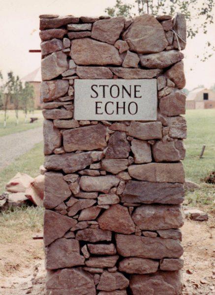 Stone Echo Sign by Kline Memorials