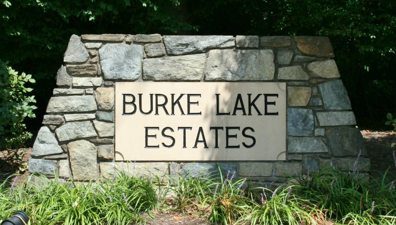 Burke Lake Estates Sign by Kline Memorials