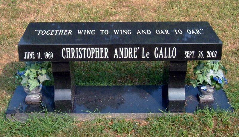 Black Granite Memorial Bench Vienna, VA