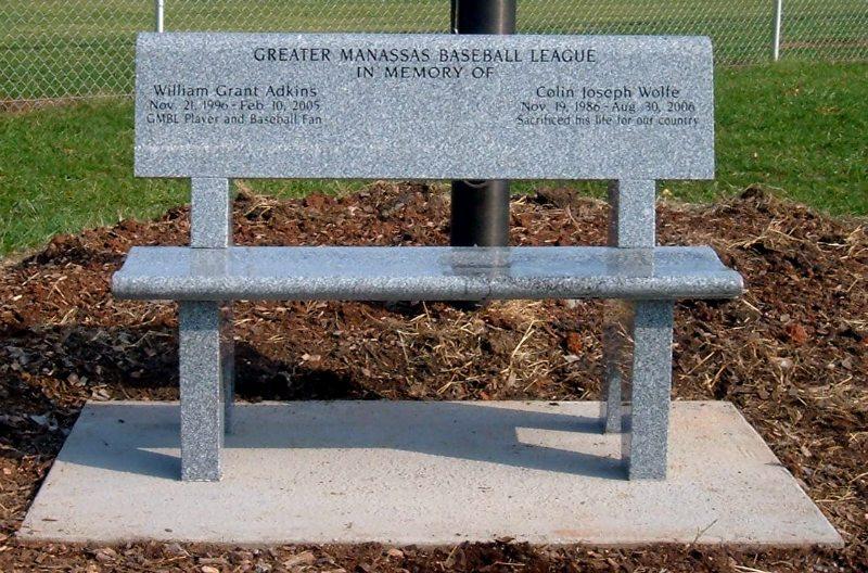Custom Granite Memorial Bench Manassas, VA