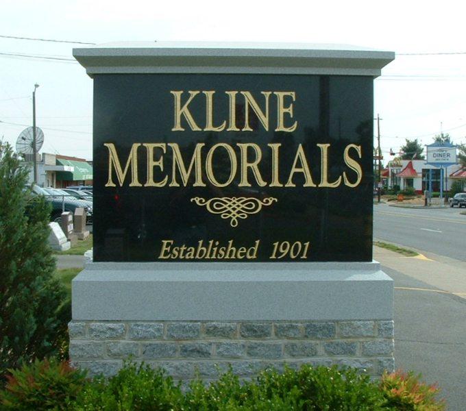 Kline Memorials Business Sign