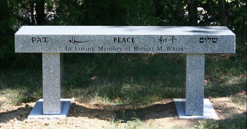 Granite Memorial Bench Londoun County, VA
