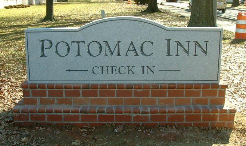 Potomac Inn Hotel Sign by Kline Memorials