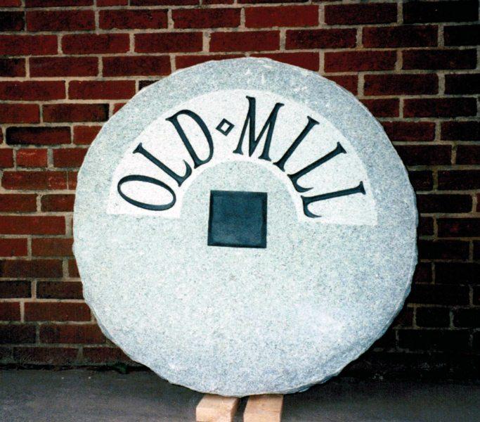 Old Mill Signage by Kline Memorials
