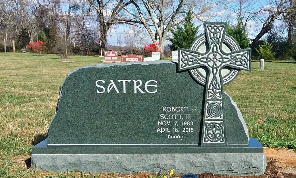 Headstone with carved Celtic Cross Washington, VA