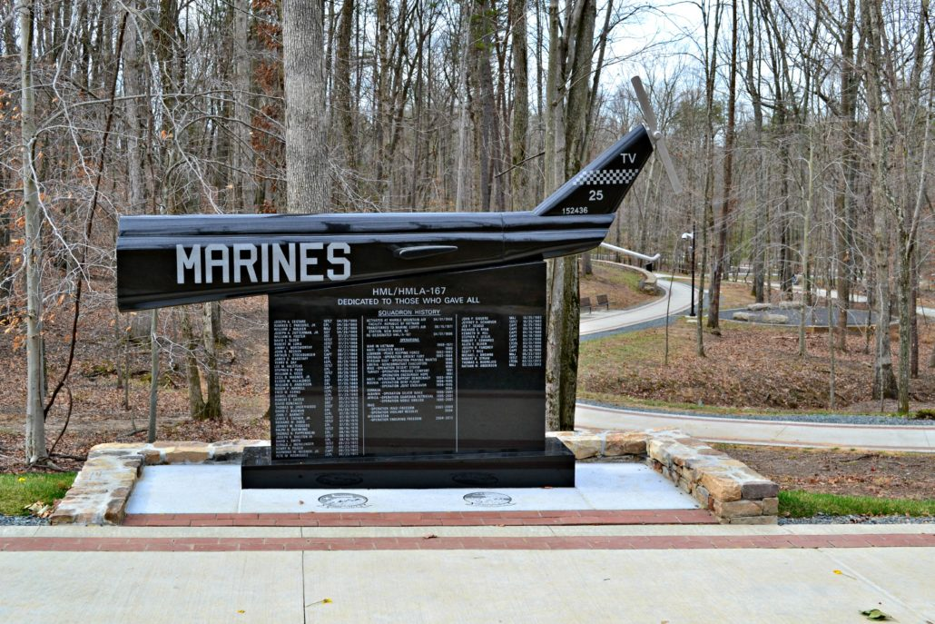 Semper Fidelis Memorial Trail at the Museum of the United States Marine Corps Triangle, Virginia