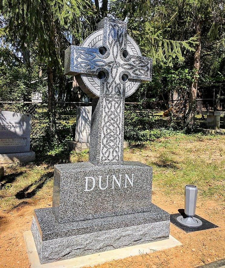 Celtic Cross Headstone at St. James Cemetery in Falls Church, VA