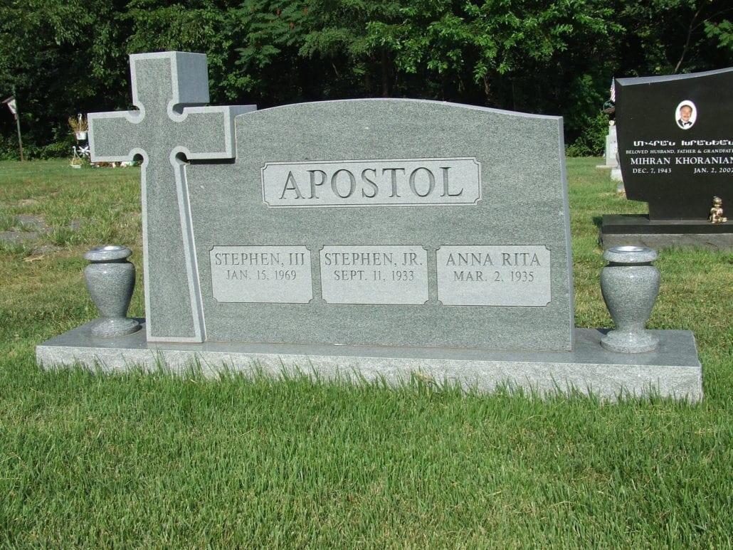 Headstone with Cross Herndon, VA