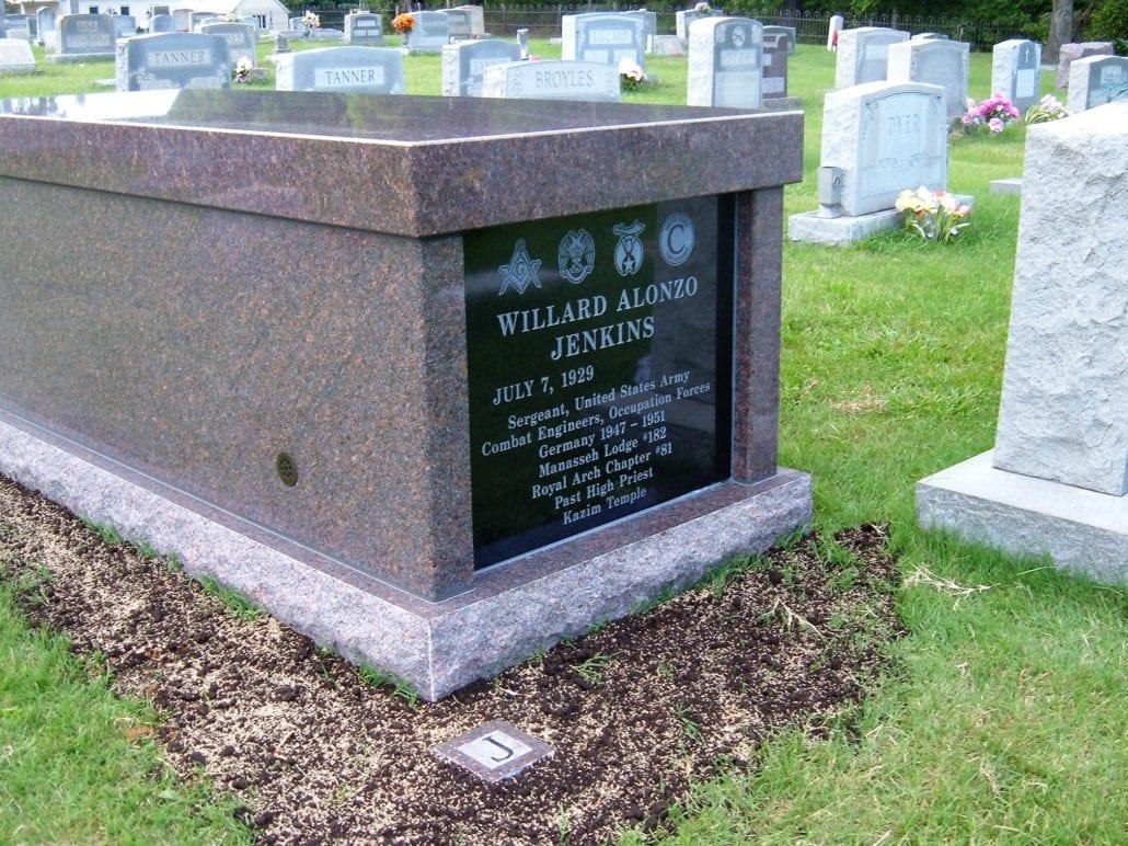 Single Mausoleum at Etlan Cemetery Etlan, VA