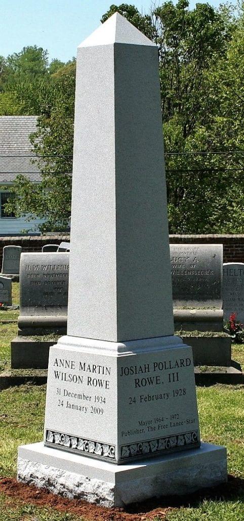 Obelisk Monument at Fredericksburg Cemetery in Fredericksburg, VA