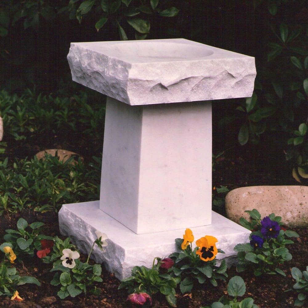 Cremation Memorial Square Bird Bath Arlington County, VA