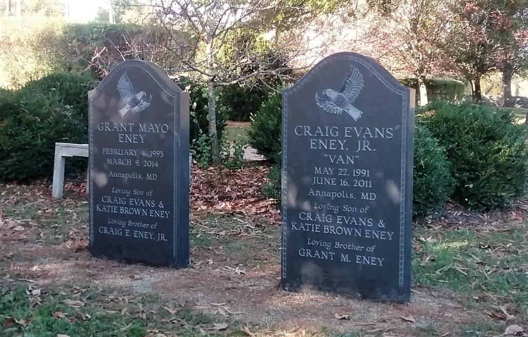 Slate Gravestone at Trinity Episcopal Church Cemetery Upperville, VA