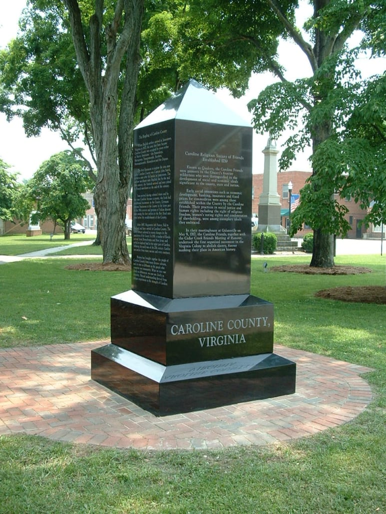 Historical Monument Caroline County, VA