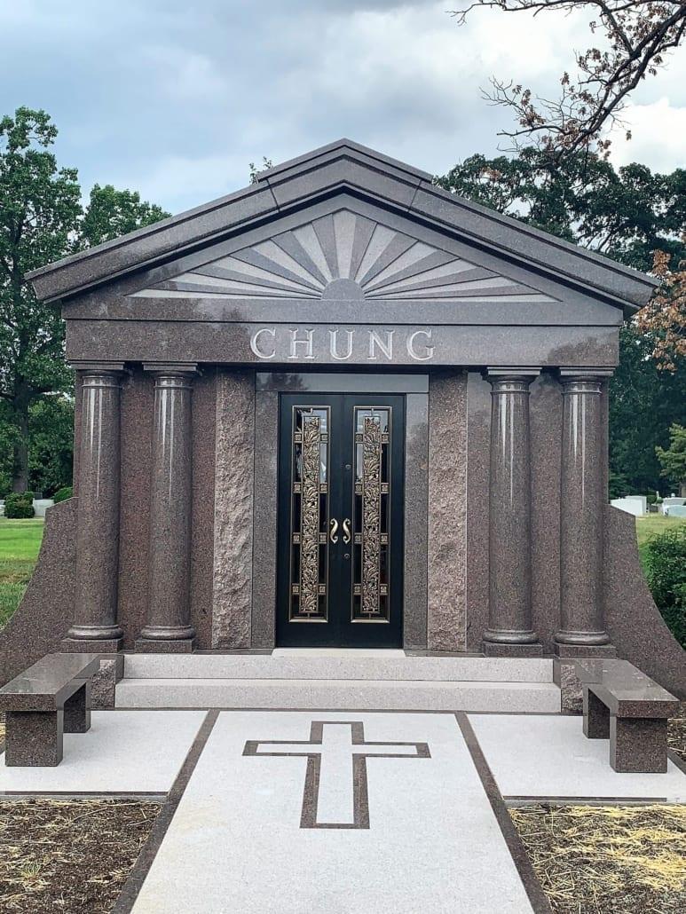 Mausoleum in Columbia Gardens Cemetery Arlington, VA