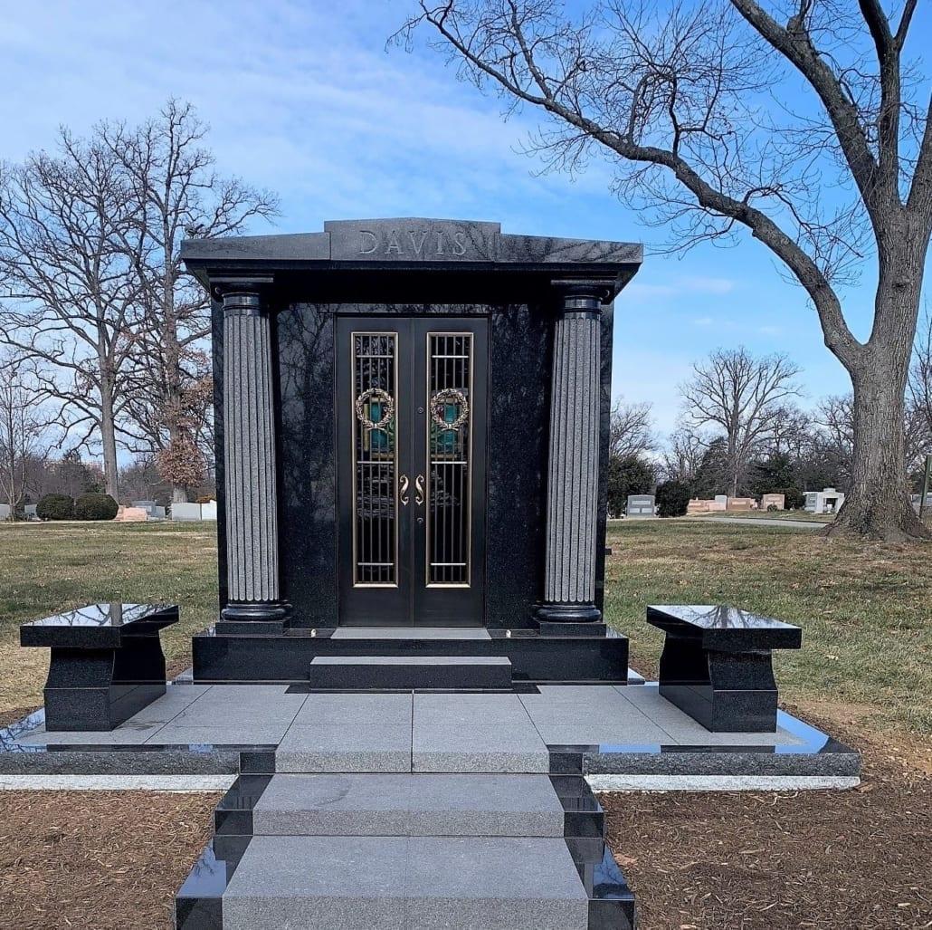 Custom Mausoleum at Columbia Gardens Cemetery Arlington, VA